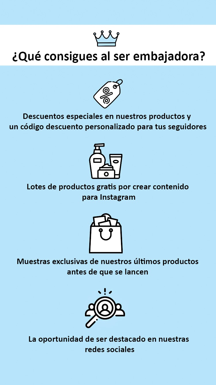Beneficios de ser embajadora de Ia in Cosmetics