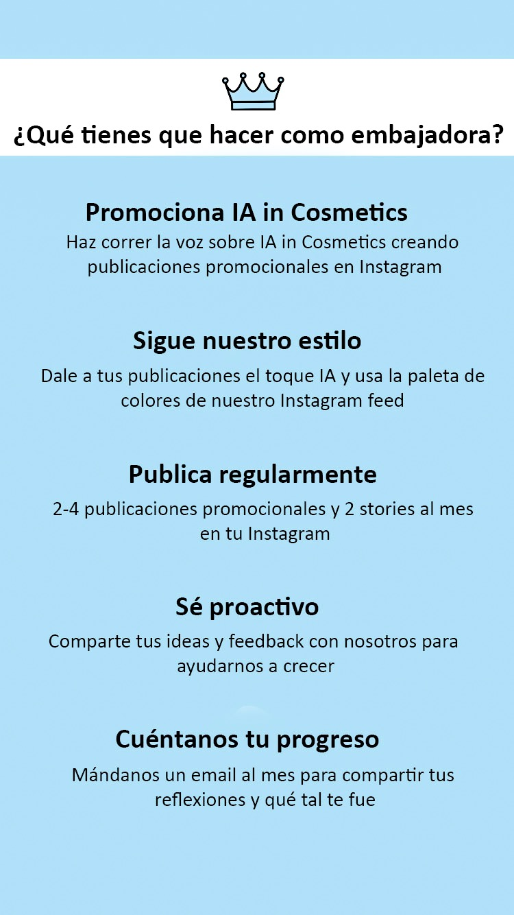 tareas como ebmajadora de IA in Cosmetics